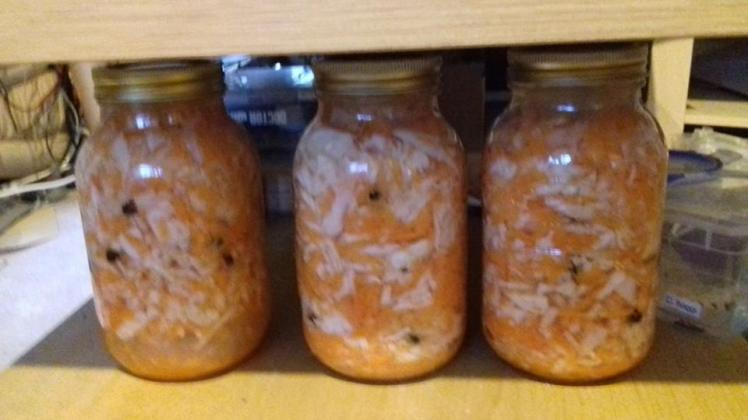 Fermented cabbage and carrot